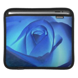 Blue Neon Rose Photograph iPad Sleeves