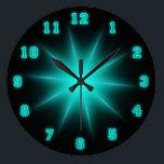 "Blue Neon Star 10.75&quot; Large Clock<br><div class=""desc"">Neon Wall Clock</div>"
