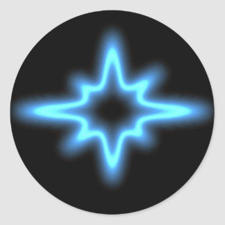 Blue neon star Sticker