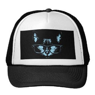 Blue Nerd Cat Hats