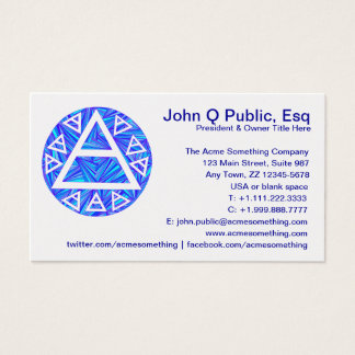 Blue New Age Mystic Air Symbol Ancient Triad Business Card