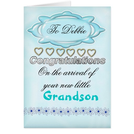 Blue New Baby Congratulations Card, Grandmother Greeting Card