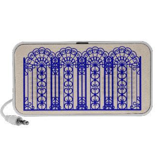 Blue New Orleans art nouveau antique white Speaker System