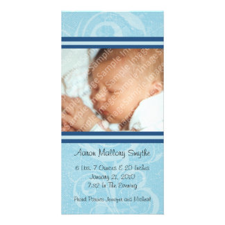 Blue New Style New Baby Photo Card