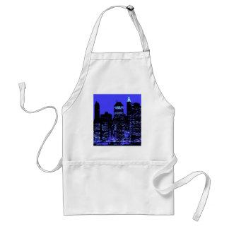 Blue New York City Adult Apron