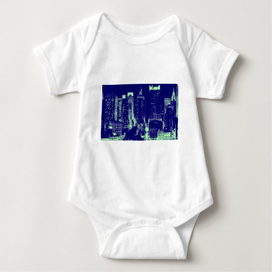 Blue New York City Baby Bodysuit