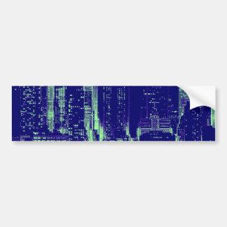 Blue New York City Bumper Sticker