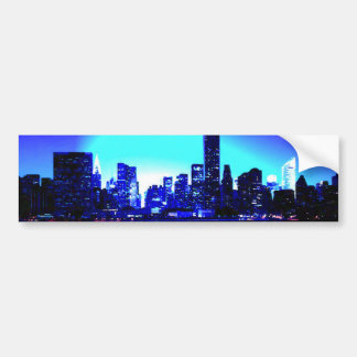 Blue New York City Car Bumper Sticker
