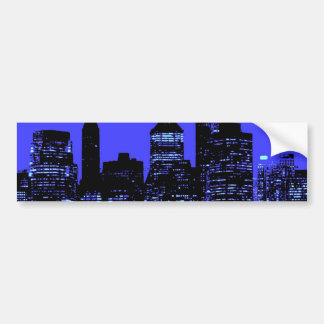 Blue New York City Bumper Sticker