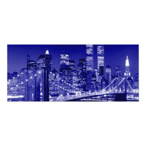 Blue New York City Card