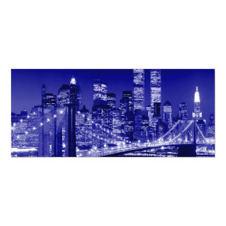 Blue New York City Card