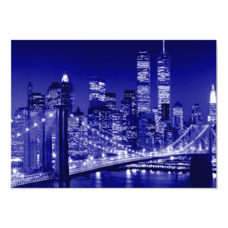 Blue New York City Invitation