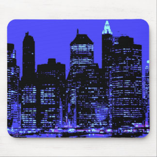 Blue New York City Mouse Pad