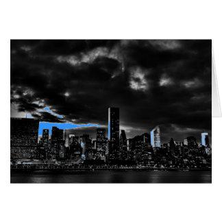 Blue New York City Night Card
