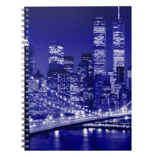 Blue New York City Night Spiral Notebook
