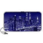 Blue New York City Night Travelling Speaker