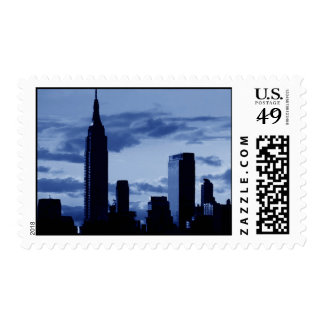 Blue New York City Postage