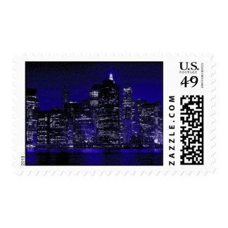 Blue New York City Postage