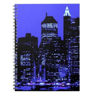 Blue New York City Spiral Notebook