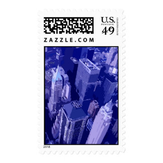 Blue New York City Stamps