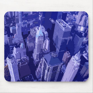Blue New York Mouse Pads
