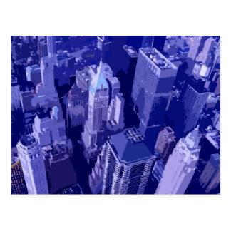 Blue New York Postcard
