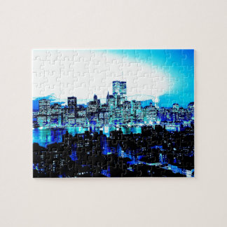 Blue New York Jigsaw Puzzles