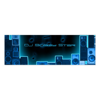 Blue night DJ businesscard Double-Sided Mini Business Cards (Pack Of 20)
