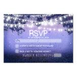 "blue night & lanterns rustic wedding RSVP 3.5"" X 5"" Invitation Card"