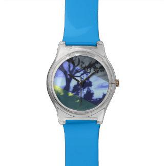 Blue Night Silhouette Watch