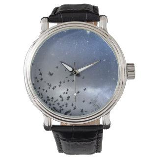 Blue Night Starry Sky Wristwatch