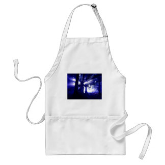 Blue Night Trees Adult Apron