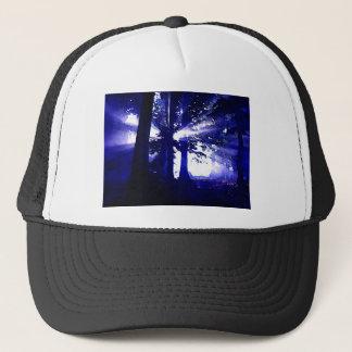 Blue Night Trees Trucker Hat