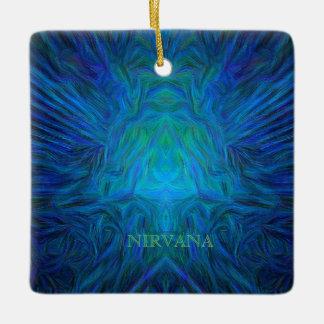 "Blue ""Nirvana"" Abstract Buddha Pop Art Ceramic Ornament"