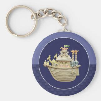Blue Noah's Ark Keychain