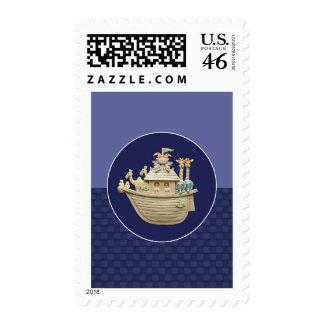 Blue Noah's Ark Stamps