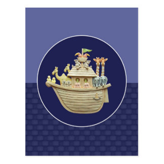 Blue Noah's Ark Postcard