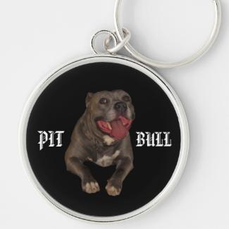 Blue Nose Pitbull Key Chain