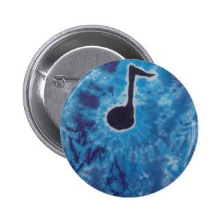 Blue Note Music Tie Dye PhatDyes Button
