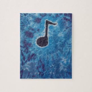Blue Note Music Tie Dye PhatDyes Jigsaw Puzzle