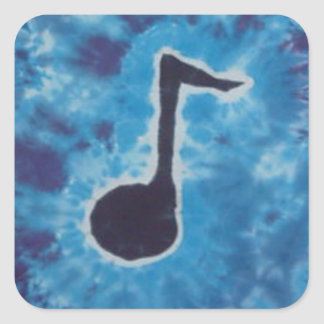 Blue Note Music Tie Dye PhatDyes Square Sticker