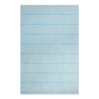 Blue Notebook Paper Stationery