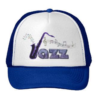Blue Notes Jazz Sax Music Hat