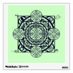 Blue Nouveau Compass Gate Mandala Wall Art Decal Wall Graphics