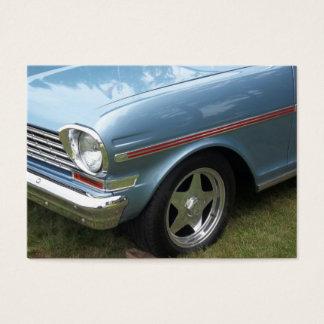 Blue Nova Chevy III Drivers side view Business Card