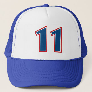 Blue Number 11 Trucker Hat