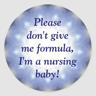 "Blue ""Nursing Baby"" sticker, hospital and daycare Classic Round Sticker"