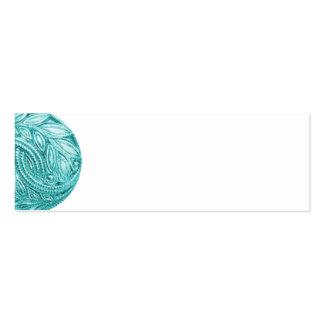 BLUE NUTCRACKER SCROLL DECORATIVE DIGITAL ART BUTT MINI BUSINESS CARD