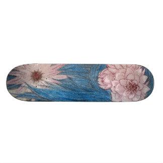 Blue Nymph Flowers Skate Board Deck
