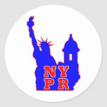 BLUE NYPR copy.png Round Stickers